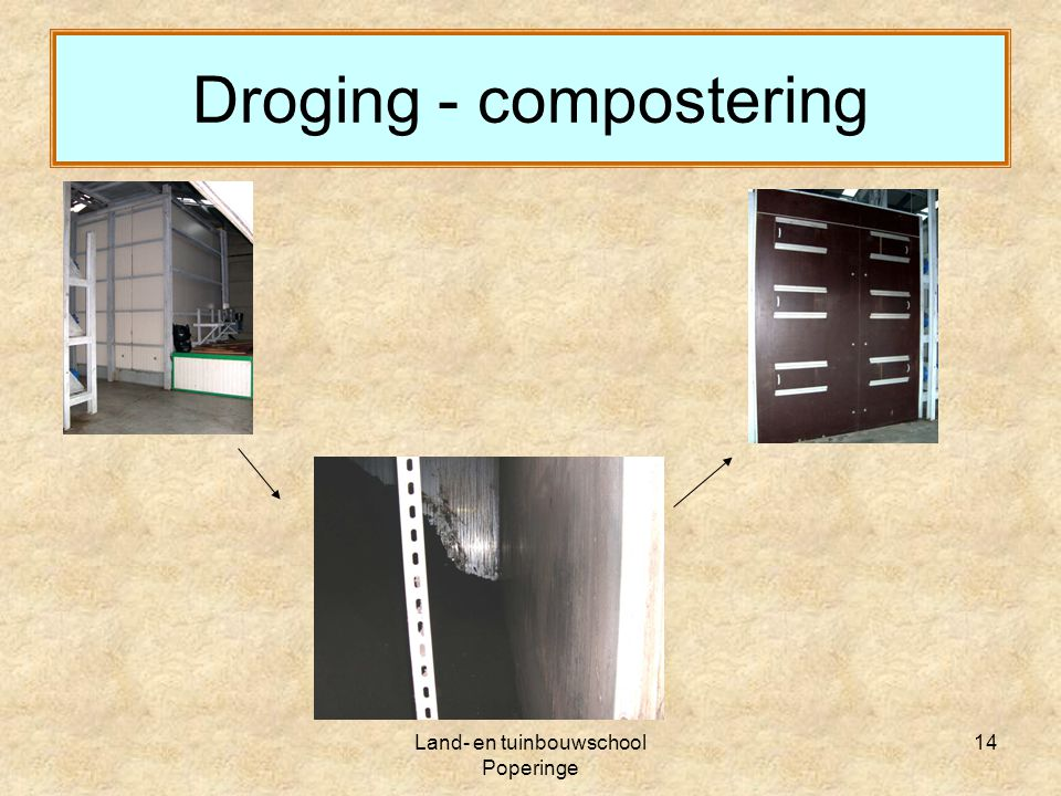 Droging - compostering