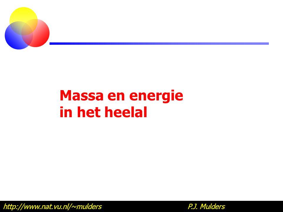 Massa en energie in het heelal