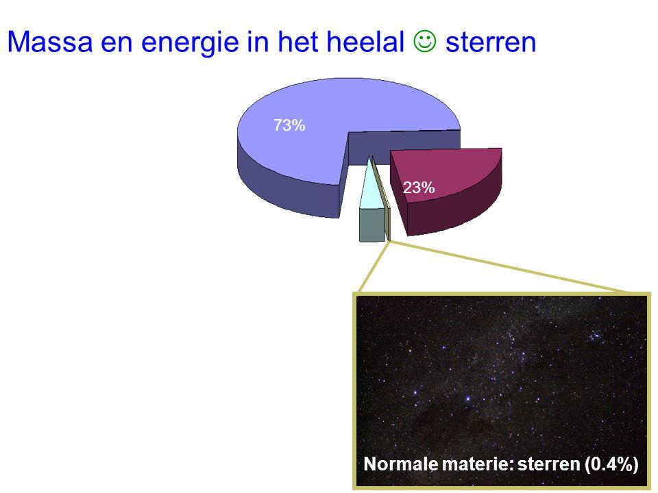 Massa en energie in het heelal  sterren