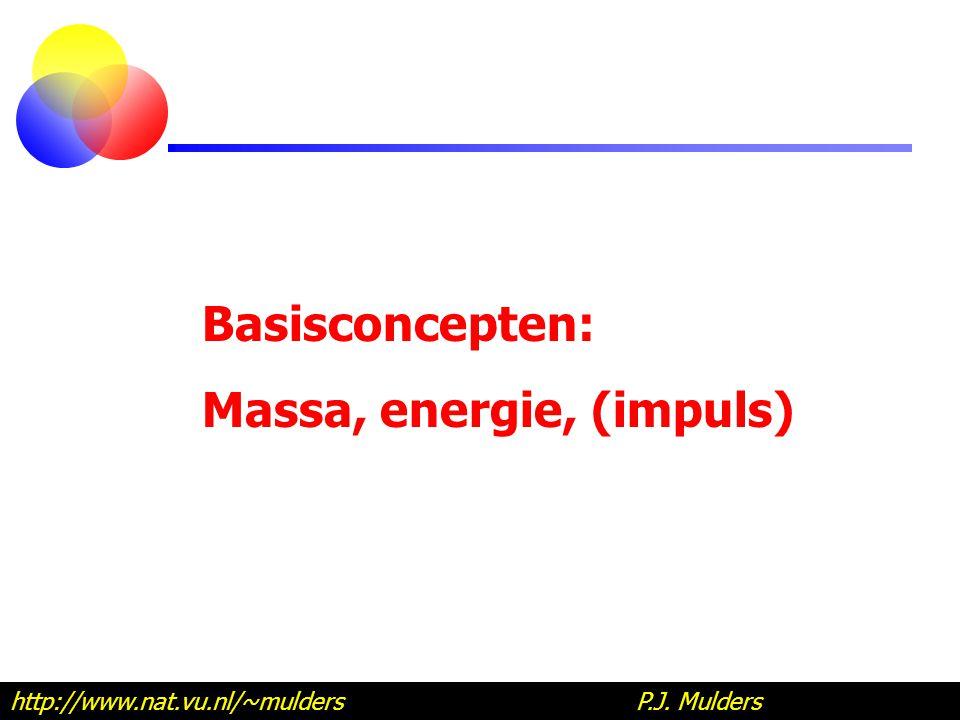 Massa, energie, (impuls)