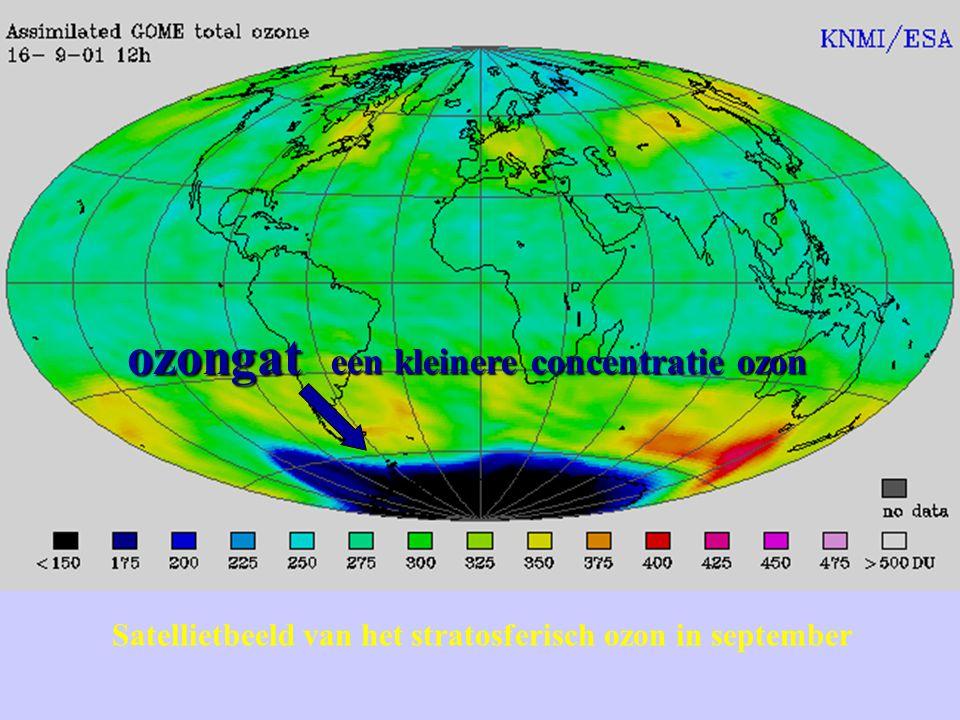 ozongat een kleinere concentratie ozon