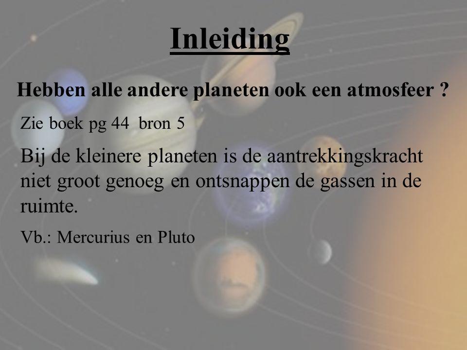 Inleiding Hebben alle andere planeten ook een atmosfeer