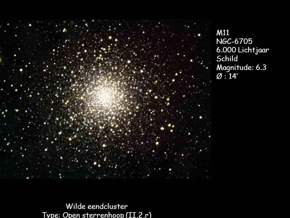 Wilde eendcluster Type: Open sterrenhoop (II,2,r)