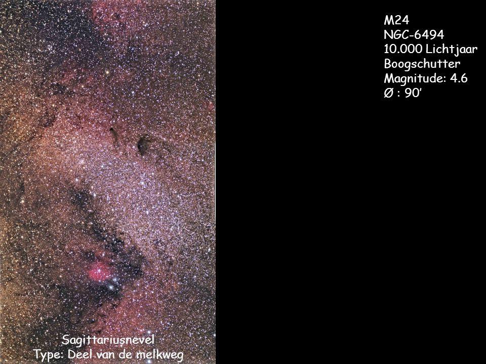 Sagittariusnevel Type: Deel van de melkweg