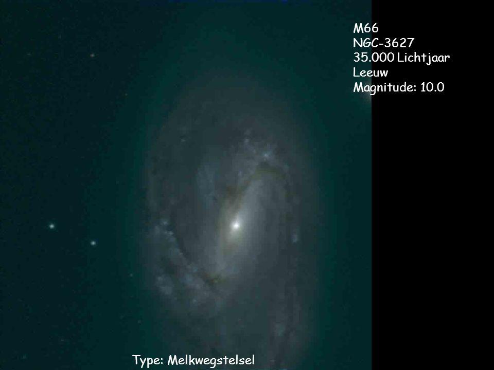 M66 NGC-3627 35.000 Lichtjaar Leeuw Magnitude: 10.0