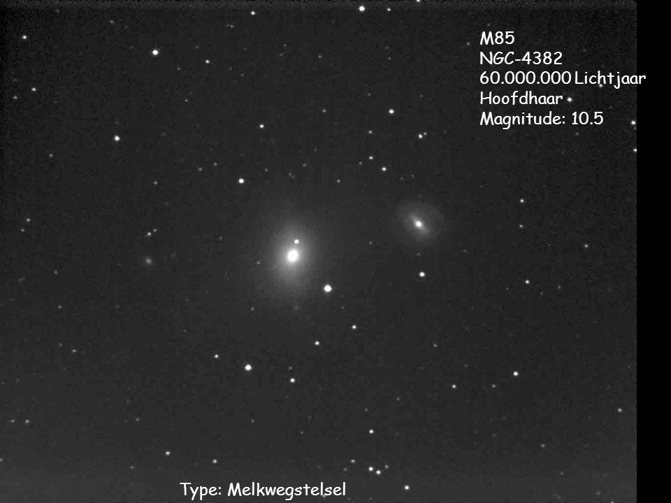 M85 NGC-4382 60.000.000 Lichtjaar Hoofdhaar Magnitude: 10.5