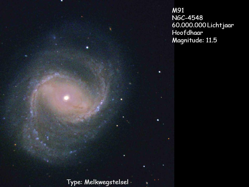 M91 NGC-4548 60.000.000 Lichtjaar Hoofdhaar Magnitude: 11.5