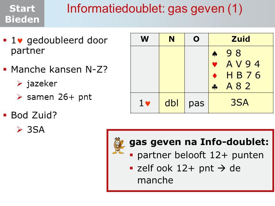 Informatiedoublet: gas geven (1)