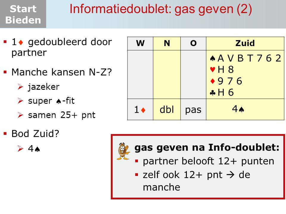 Informatiedoublet: gas geven (2)