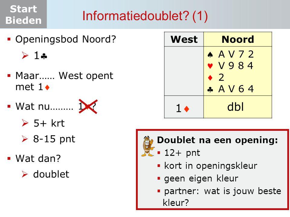 Informatiedoublet (1) pas dbl 1 1 5+ krt Openingsbod Noord