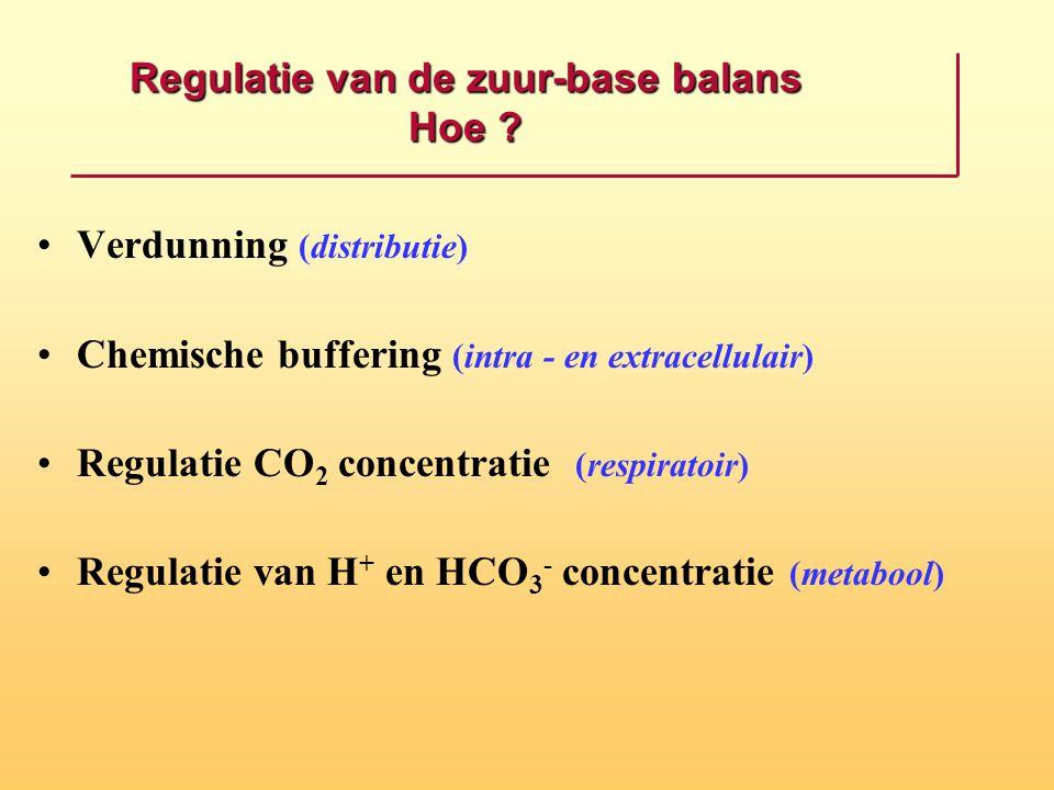 Regulatie van de zuur-base balans Hoe