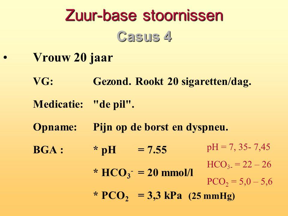 Zuur-base stoornissen Casus 4