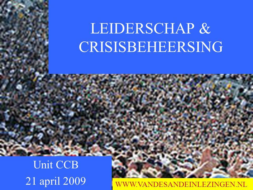 LEIDERSCHAP & CRISISBEHEERSING