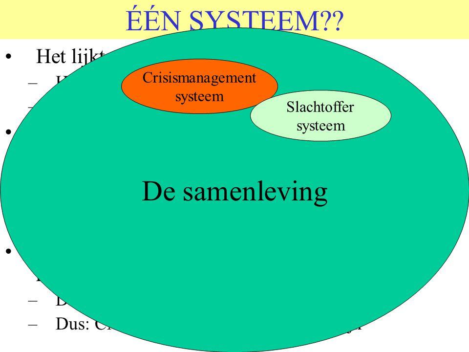 ÉÉN SYSTEEM De samenleving Het lijkt alsof er twee systemen zijn