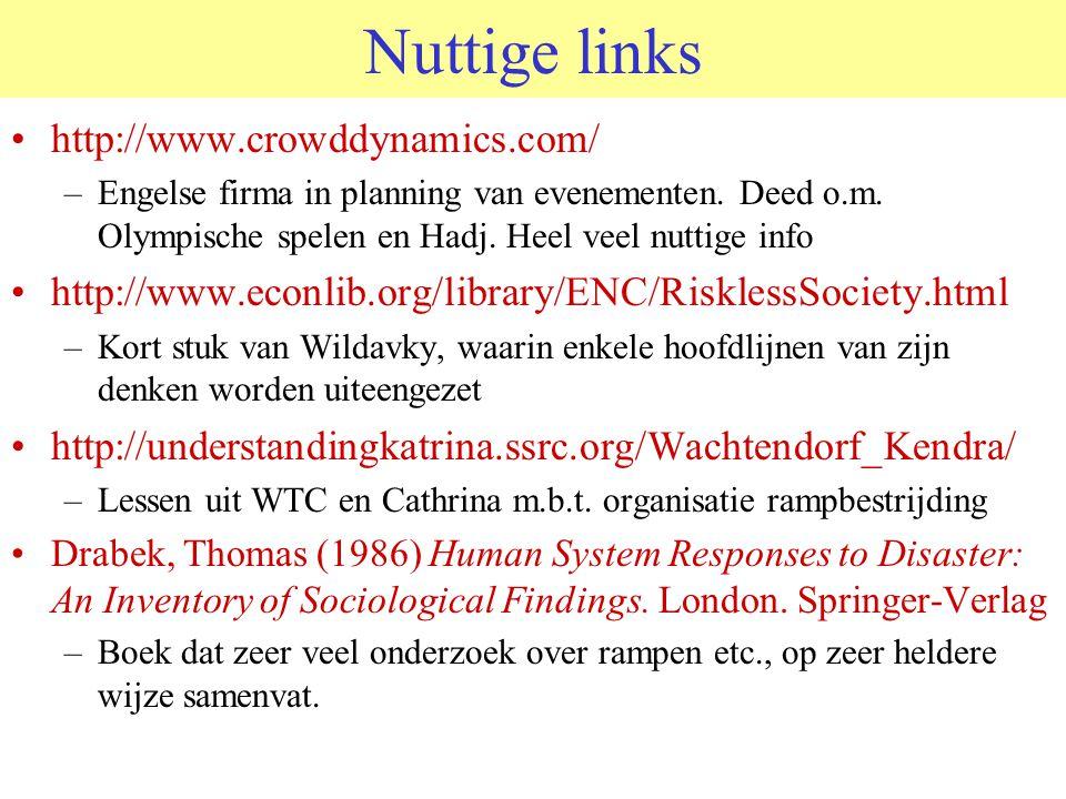 Nuttige links http://www.crowddynamics.com/