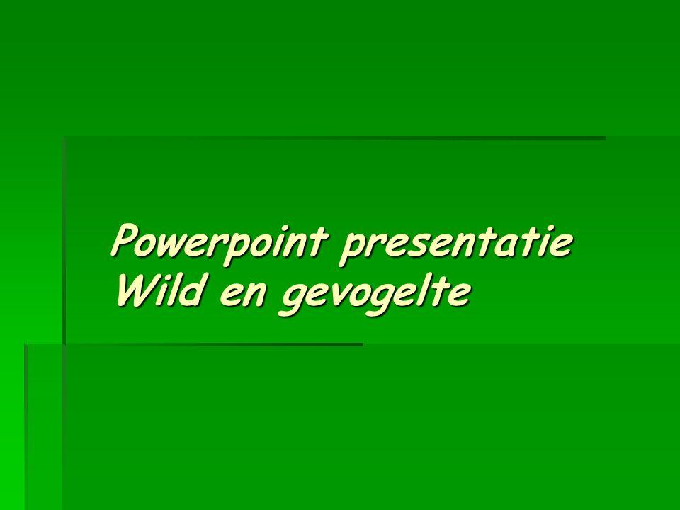 Powerpoint presentatie Wild en gevogelte