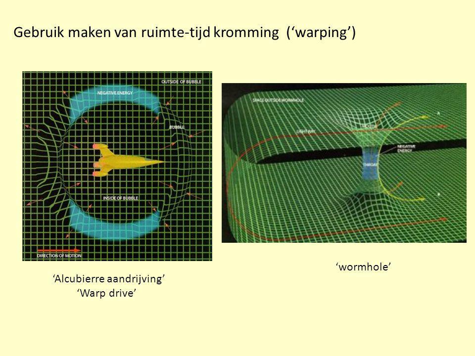 Gebruik maken van ruimte-tijd kromming ('warping')