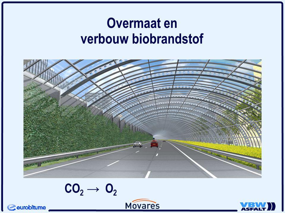 Overmaat en verbouw biobrandstof