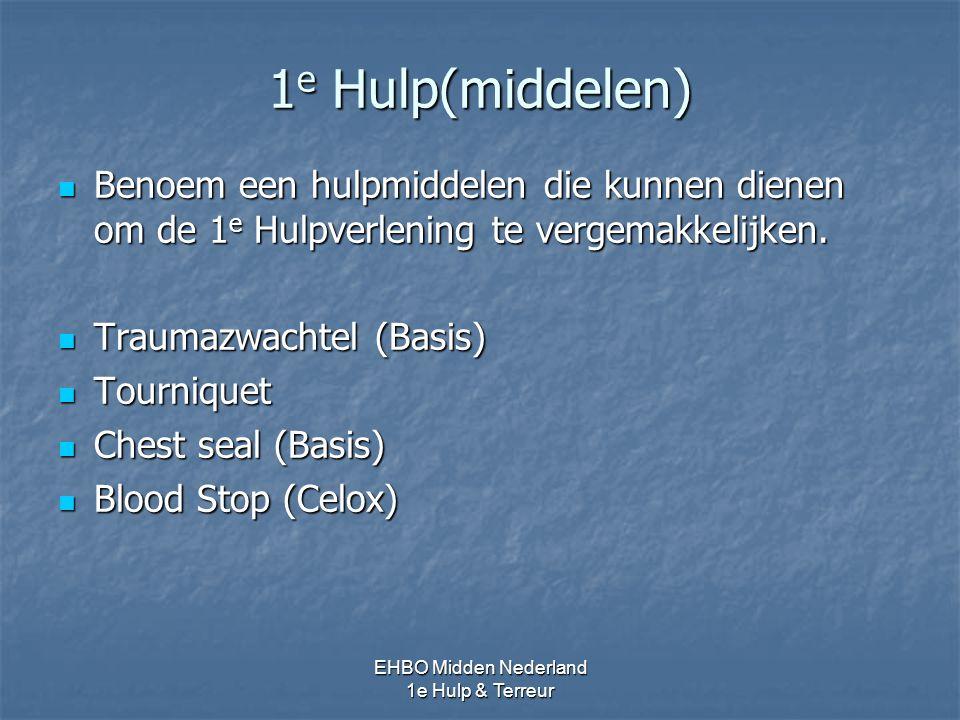 1e Hulp(middelen) Benoem een hulpmiddelen die kunnen dienen om de 1e Hulpverlening te vergemakkelijken.