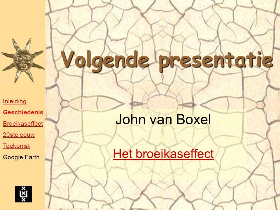 John van Boxel Het broeikaseffect