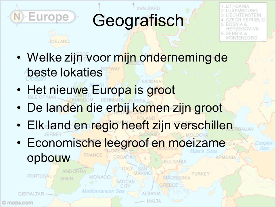 Geografisch Welke zijn voor mijn onderneming de beste lokaties