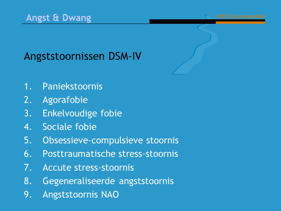 Angststoornissen DSM-IV