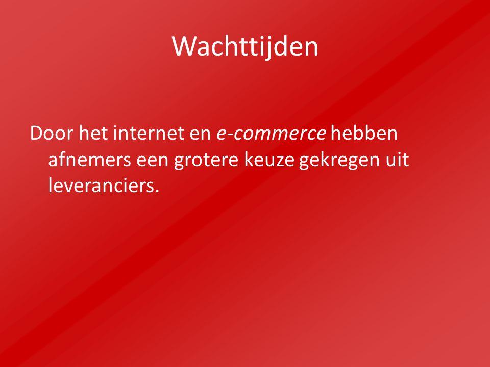 Wachttijden Door het internet en e-commerce hebben afnemers een grotere keuze gekregen uit leveranciers.