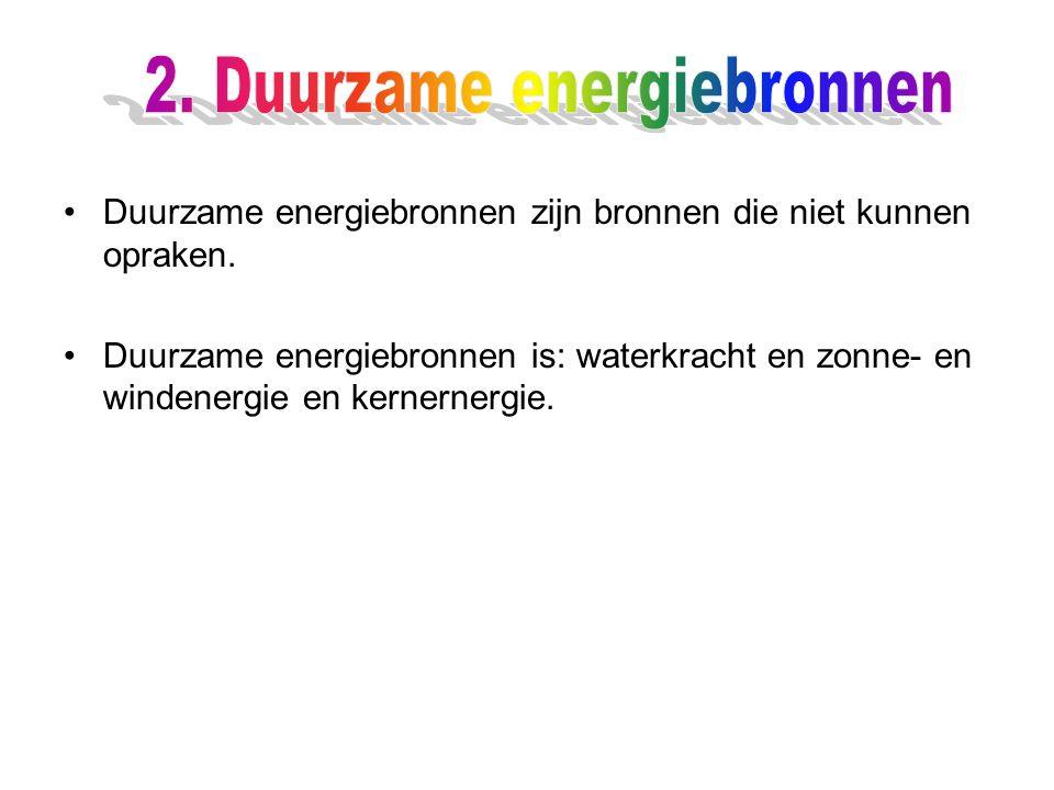 2. Duurzame energiebronnen