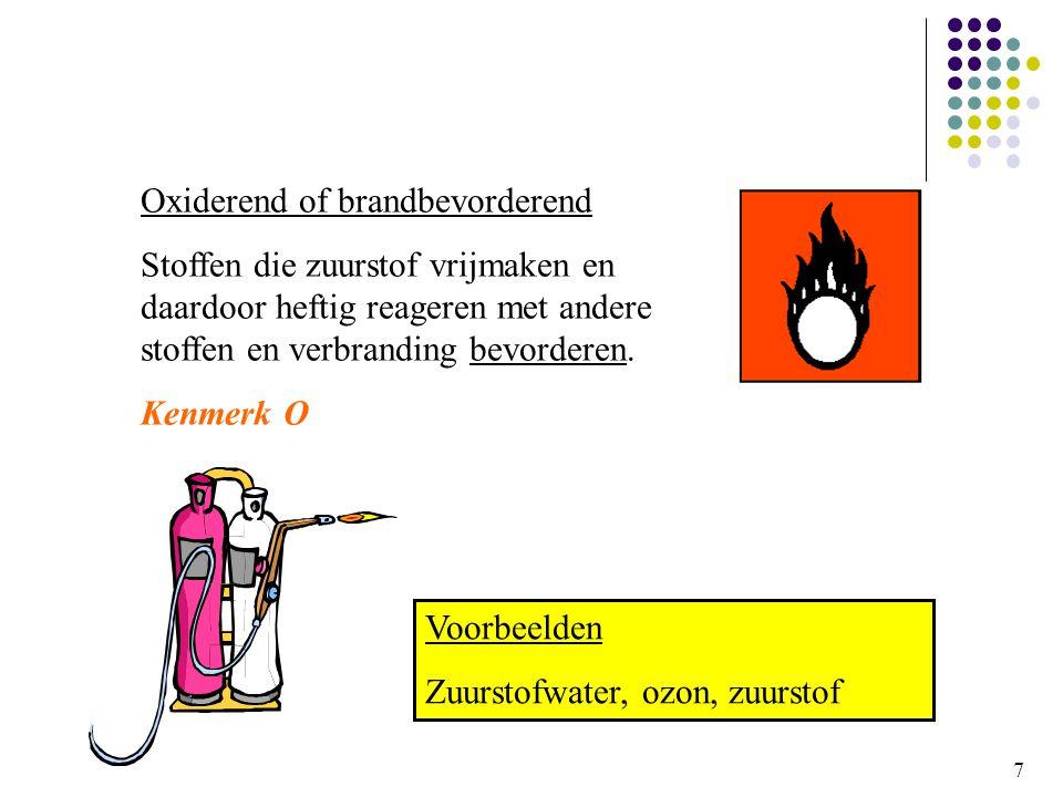 Oxiderend of brandbevorderend