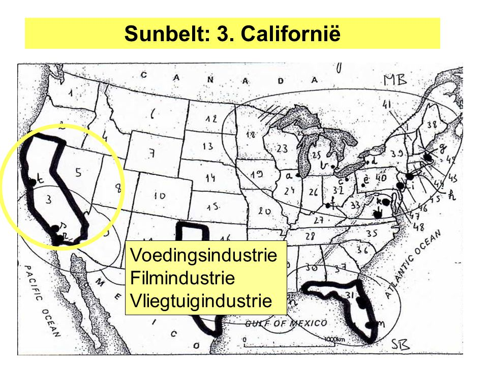 Sunbelt: 3. Californië Voedingsindustrie Filmindustrie