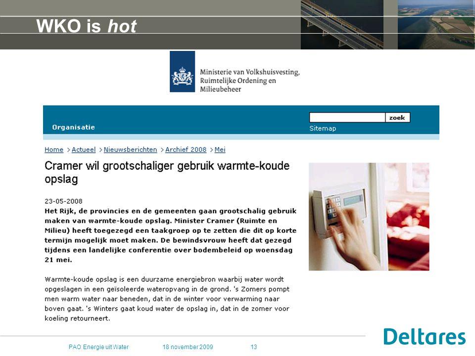 WKO is hot PAO Energie uit Water 18 november 2009