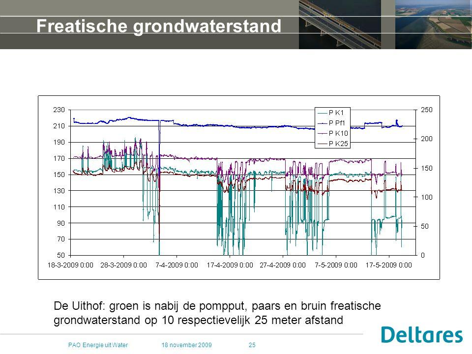 Freatische grondwaterstand