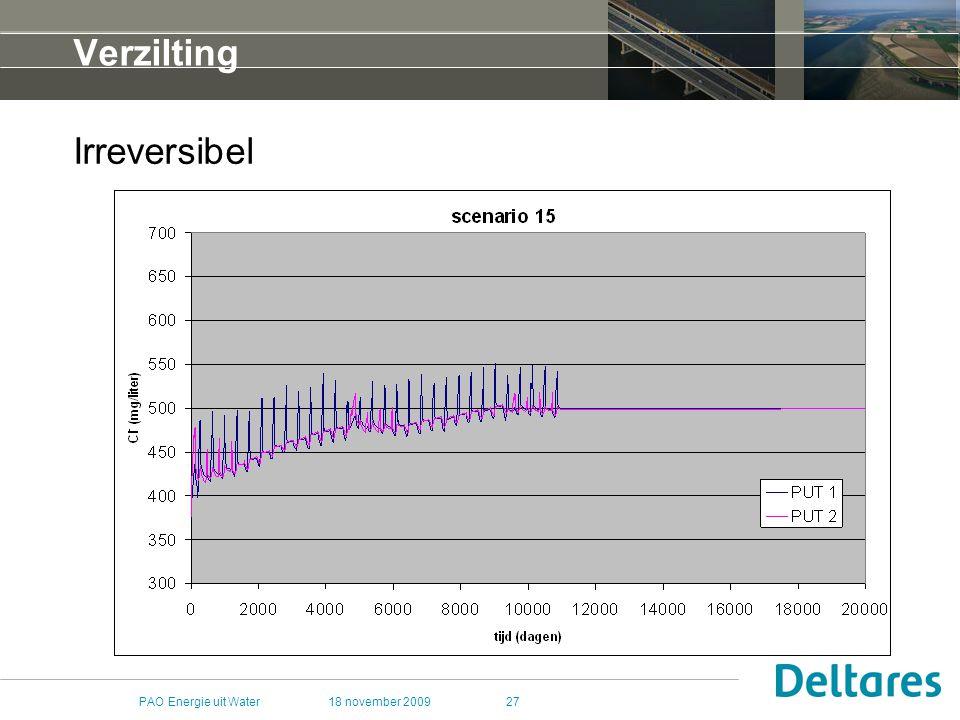 Verzilting Irreversibel PAO Energie uit Water 18 november 2009