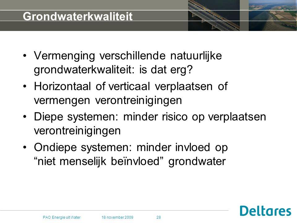 Vermenging verschillende natuurlijke grondwaterkwaliteit: is dat erg