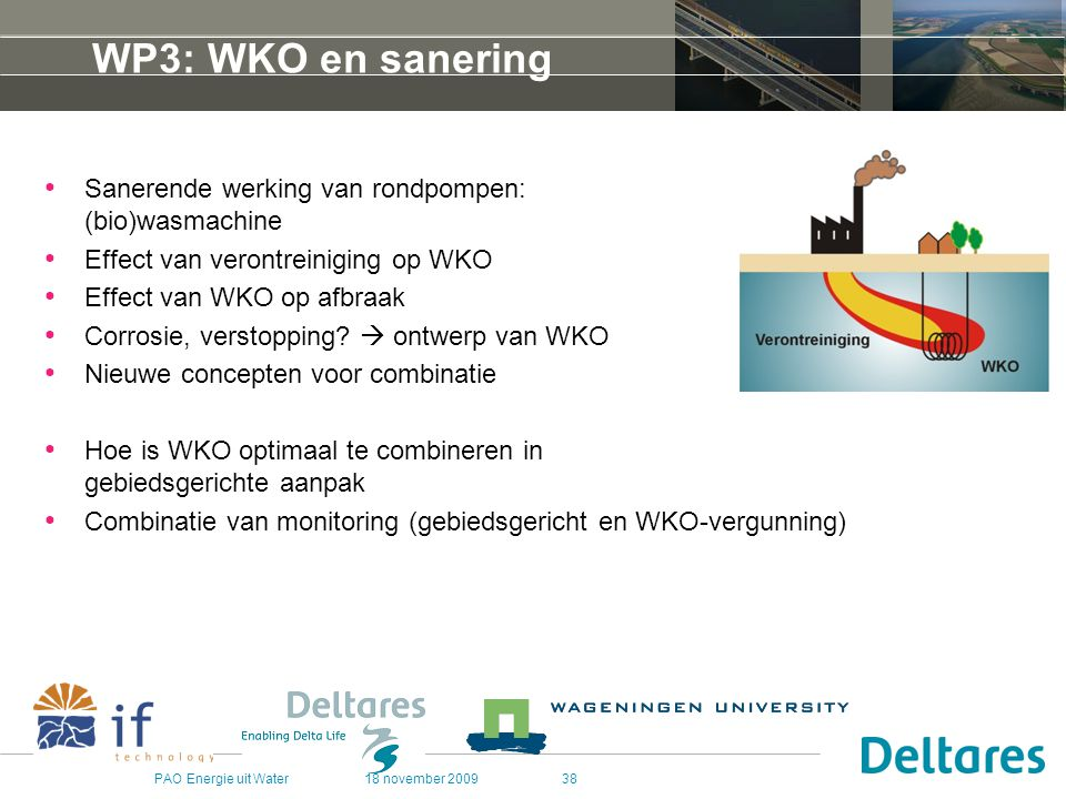 WP3: WKO en sanering Sanerende werking van rondpompen: (bio)wasmachine