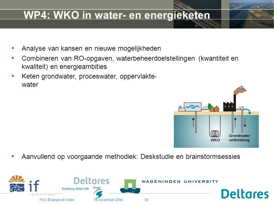 WP4: WKO in water- en energieketen