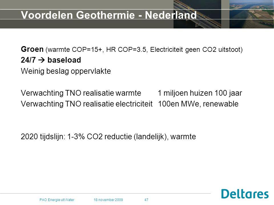 Voordelen Geothermie - Nederland