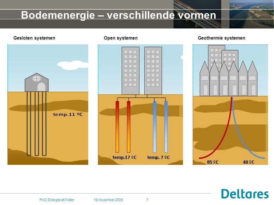 Bodemenergie – verschillende vormen