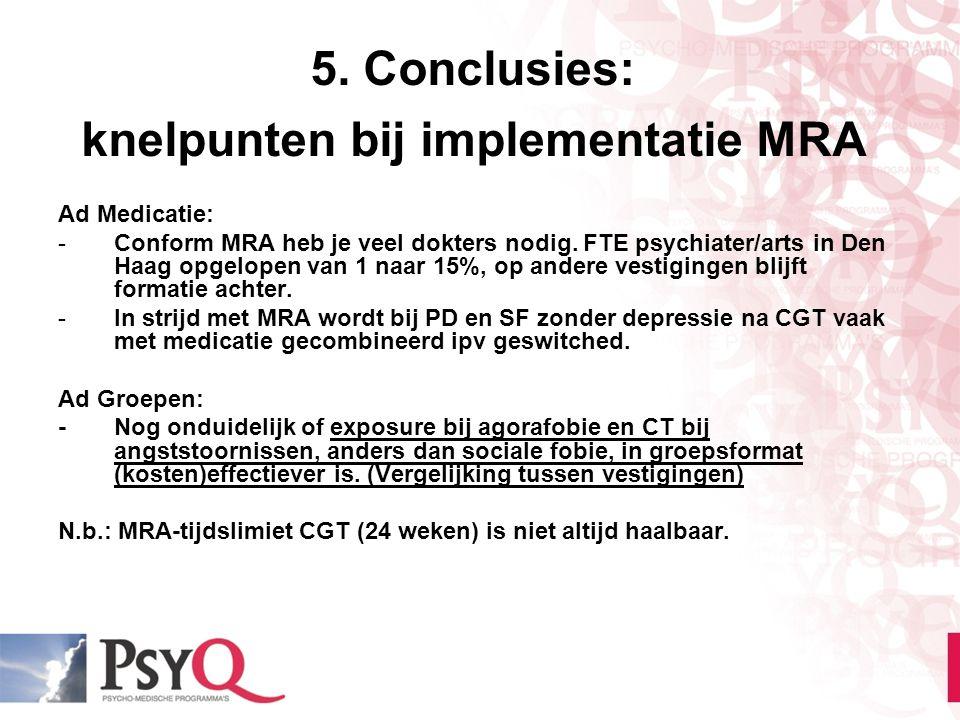 5. Conclusies: knelpunten bij implementatie MRA