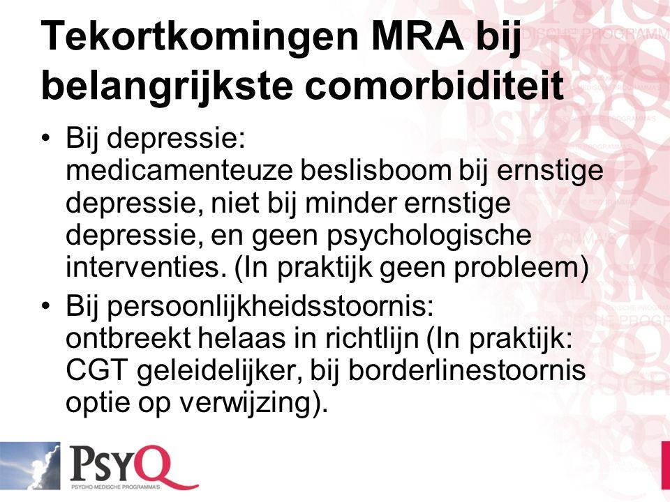 Tekortkomingen MRA bij belangrijkste comorbiditeit
