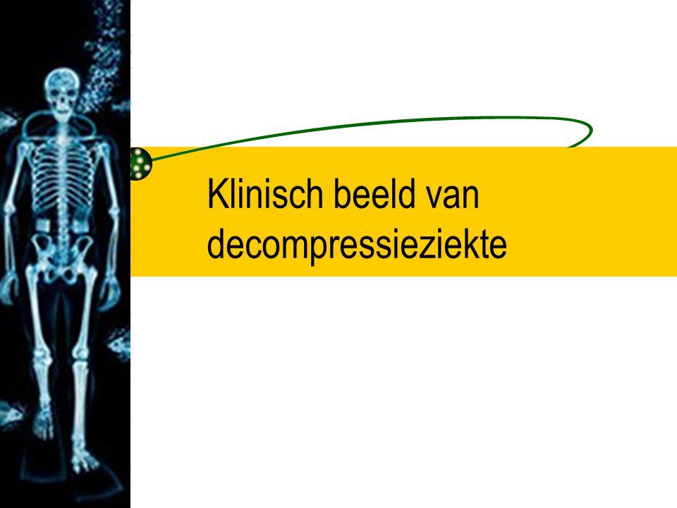 Klinisch beeld van decompressieziekte