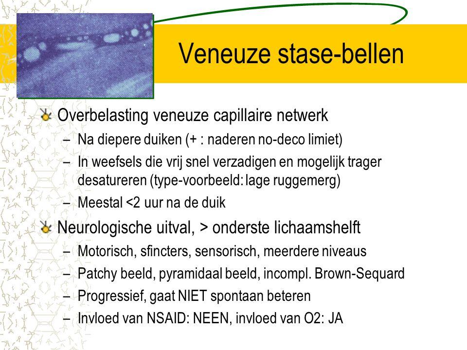 Veneuze stase-bellen Overbelasting veneuze capillaire netwerk