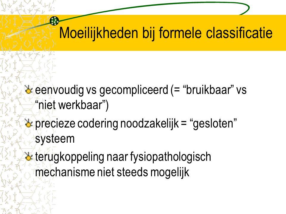 Moeilijkheden bij formele classificatie