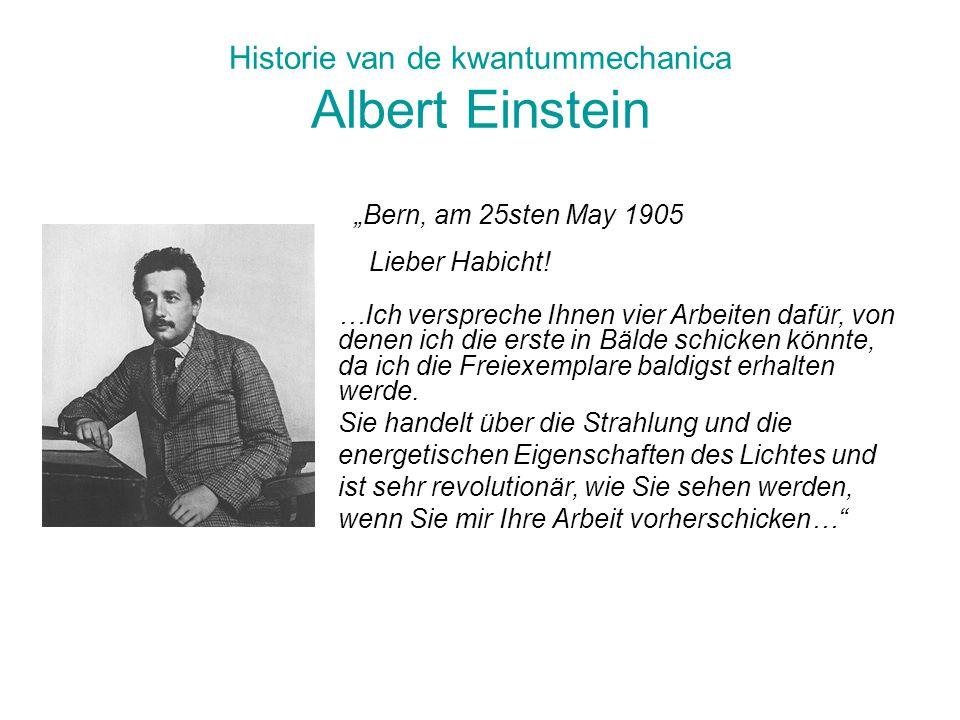 Historie van de kwantummechanica Albert Einstein