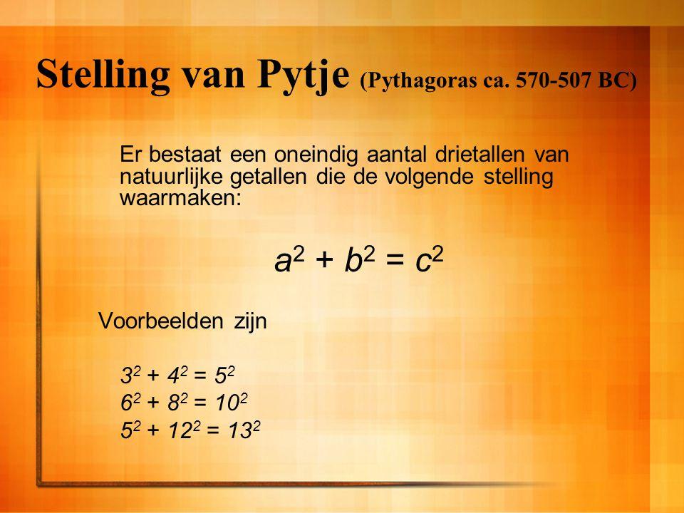 Stelling van Pytje (Pythagoras ca. 570-507 BC)