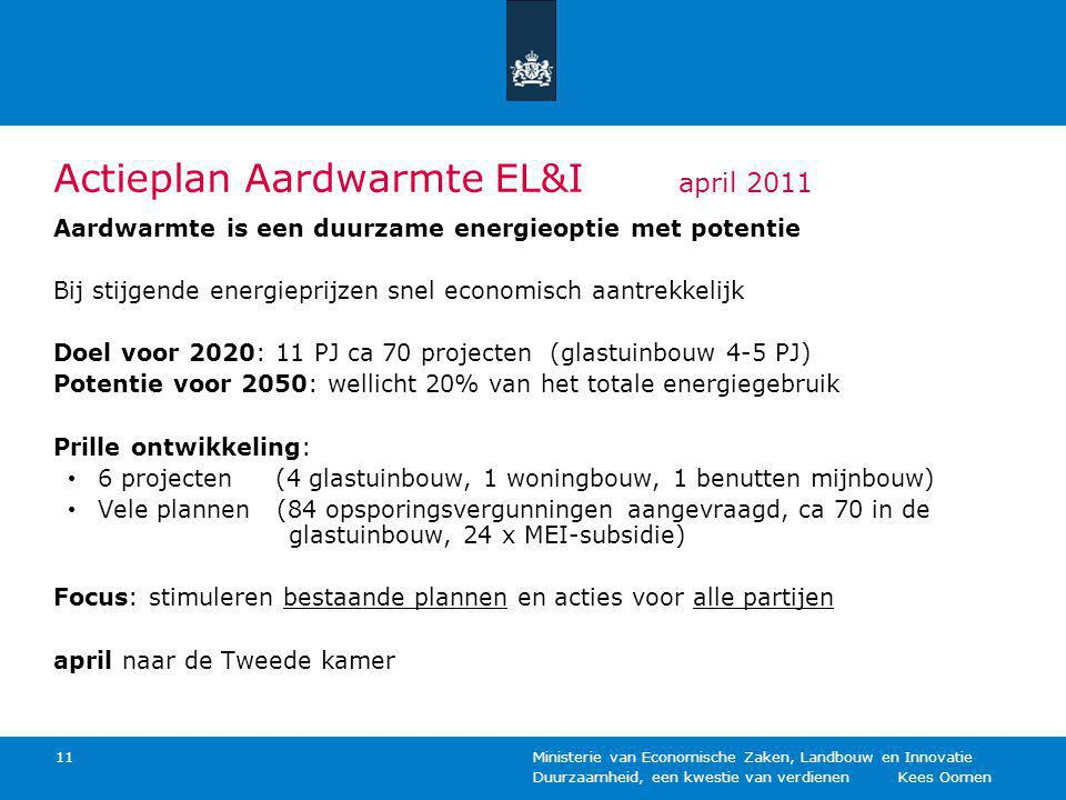 Actieplan Aardwarmte EL&I april 2011