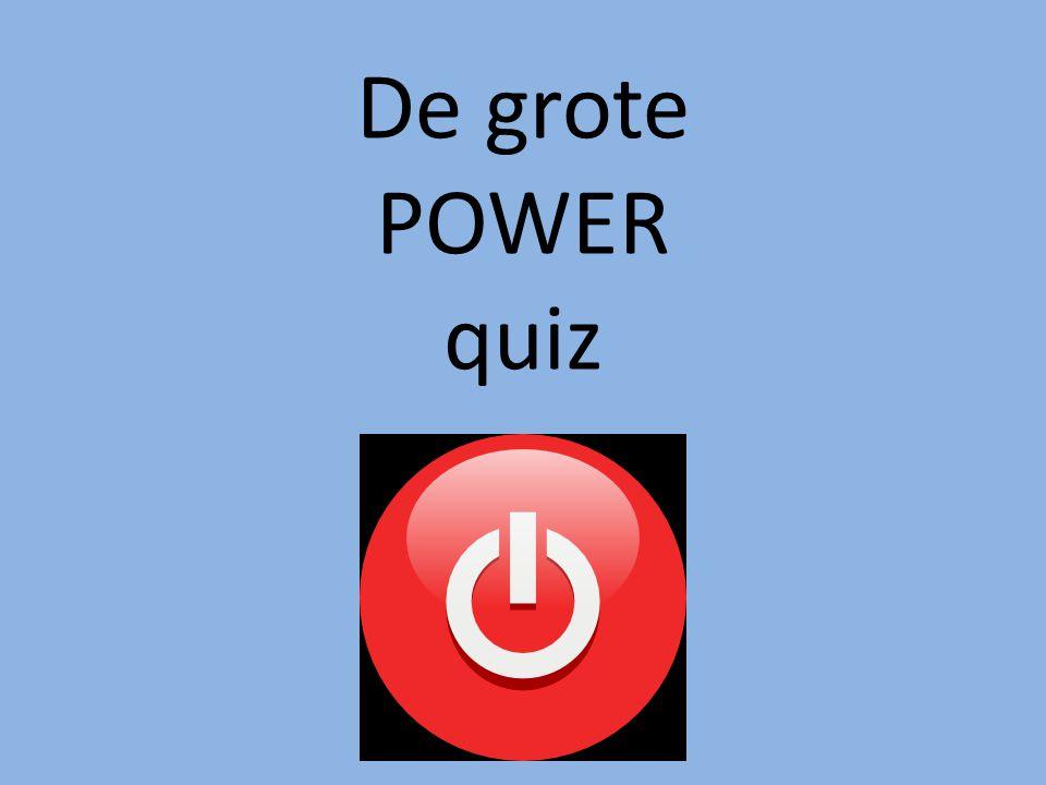 De grote POWER quiz