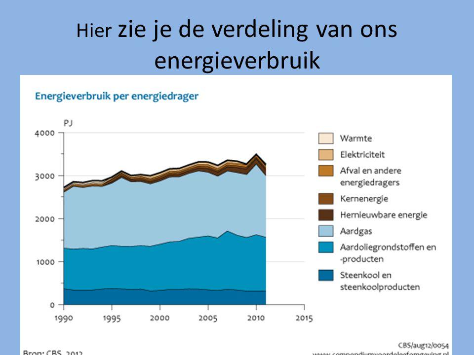 Hier zie je de verdeling van ons energieverbruik