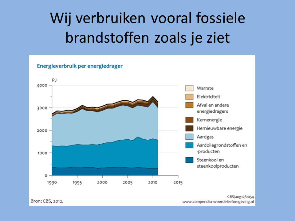Wij verbruiken vooral fossiele brandstoffen zoals je ziet