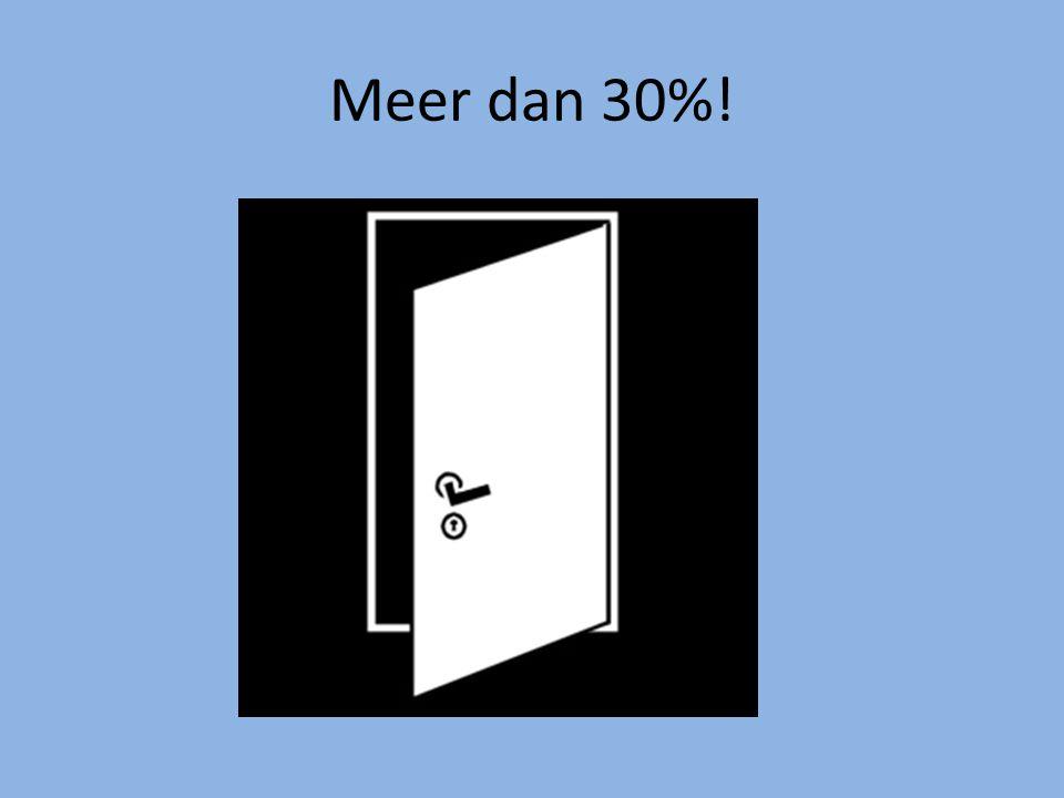 Meer dan 30%!